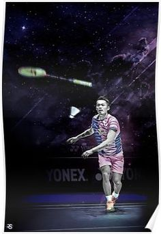 'Lin Dan - Badminton Edit' Poster by RobSpink Badminton Smash, Badminton Court, Man Images, Rock Climbing, Athlete, Exercise, Concert, Sports, Poster