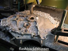 Machining off the stock crankcase castings. Mockup, Birthday Candles, It Cast, Miniatures, Model