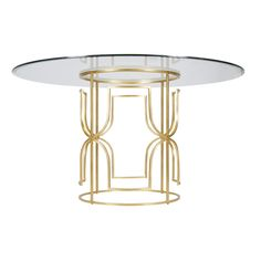 two bases Jennifer Gold Leafed Dining Table Base Only