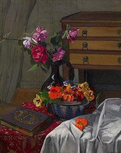 Felix Vallotton「Roses and nasturtiums」(1920)