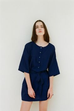 Two-way Button Dress