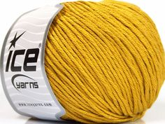 Bahar - Yaz İplikleri Yazlık İplikler Pamuk Bambu Natural Yarn Double Knitting Altın  İçerik 60% Bambu 40% Pamuk Brand Ice Yarns Gold fnt2-50548 Ice Yarns, Bamboo Light, Fiber, Gold, Cotton, Low Fiber Foods, Yellow