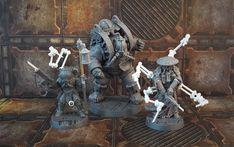 Inquisitor 40k, Necromunda Gangs, Mechanical Arm, Necron, Sitting Poses, Warhammer 40k Miniatures, Mini Paintings, Slums, Model Building