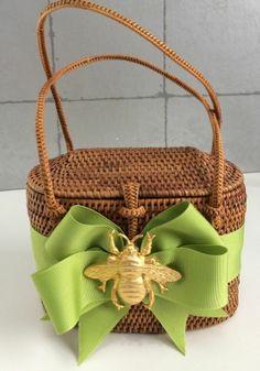 Bosom Buddy Bag High Baby Bali W/ Bee Embellishment & Green Ribbon