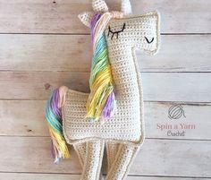 75+ Magically Inspiring Unicorn Crafts, DIYs, Foods and Gift Ideas: Ragdoll Unicorn Crochet Pattern from Spin A Yarn Crochet