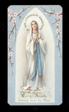 """santino-holy card""""""""ediz. FB serie LOURDES n.7 MADONNA DI LOURDES"""
