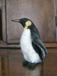 Needle Felted Emperor Penguin by FeltedWildlife