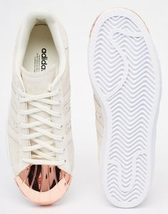 adidas Originals Superstar 80s Rose Gold Metal Toe Cap Sneakers 98db7686afa