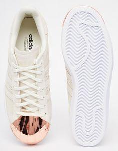 more photos 49dfa 312a1 adidas Originals Superstar 80s Rose Gold Metal Toe Cap Sneakers at asos.com