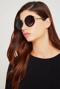 BCBGeneration Yoko Round Sunglasses - Black - $25.00