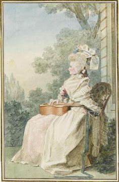 Comtesse Alexandre de Damas, 1784 by Louis Caroggis Carmontelle (1717-1806)