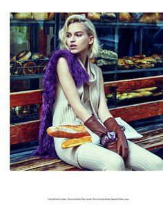 madison avenue girl: valeria dmitrienko by kinya for l'officiel hellas november 2014