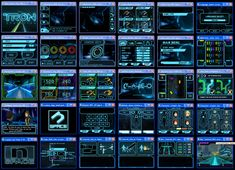 User Interface design work for Tron DS. I had to follow the movie style guide and come up with a matching style and functionality for the game play.