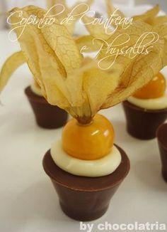 Receita Copinhos de Ganache de Cointreau e Physalis — Chocolatria