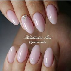 Best Ideas to Make Your Oval Nails Even More Gorgeous - Nails - Nail Manicure, Nude Nails, Pink Oval Nails, Short Oval Nails, Oval Nail Art, Soft Pink Nails, Oval Acrylic Nails, Pink Wedding Nails, Wedding Makeup