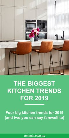 Functionality, natural materials and moody colour palettes were among the key trends showcased on The Block. Big Kitchen, Kitchen On A Budget, Kitchen Layout, Kitchen Dining, Kitchen Ideas, The Block Kitchen, Kitchen Planning, Kitchen Reno, Vintage Kitchen Decor