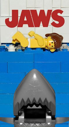 Movie posters re-imagined with Lego: Jaws