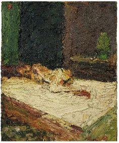 Frank Auerbach: E.O.W., Nude on Bed (1959)