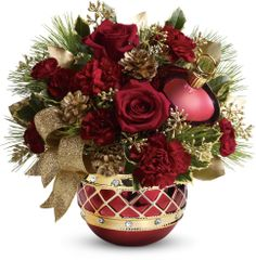 Teleflora's Jeweled Ornament Bouquet- Glenn