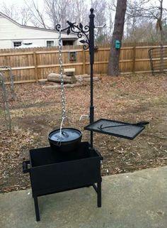 Outdoor Cooking Swinging Arm Cast Iron Pot Hanger