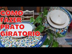 Como fazer PRATO GIRATÓRIO - YouTube Diy Videos, Youtube, Food, Furniture Restoration, Dishes, Diy, Super Simple, Craft, Ballerina