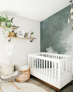Contemporary Baby Bedroom With Modern Baby Girl Princess: Modern Smoke Mural Nursery For A Baby Boy Baby Boy Rooms, Baby Bedroom, Baby Room Decor, Baby Boy Nurseries, Nursery Room, Girl Nursery, Kids Bedroom, Kids Rooms, Room Baby