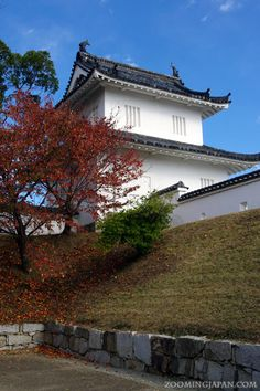 Japanese castles I've visited: #3 Ako Castle in Hyogo Prefecture. I've been there a few times, mostly in autumn. There's no main tower left and nothing to enter, but a few nice turrets and moat as well as castle walls.
