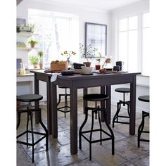 camden dark 42 round bar height table by american drew