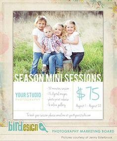 Photography Marketing board | Special season