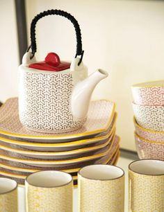 Kitchens of Distinction with Carolyn Donnelly at Dunnes Stores Kitchens Of Distinction, Hot Pot, Kitchen Accessories, Home Interior Design, Tea Pots, Kitchen Appliances, Ceramics, Cherries, Store