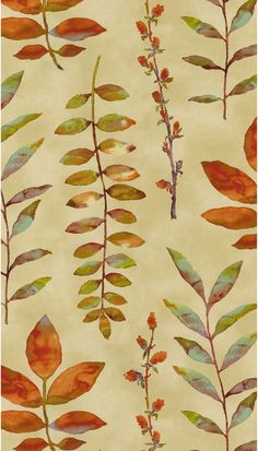 "Waverly Print Fabric 54"" - Leaf Of Faith/Flaxseed"