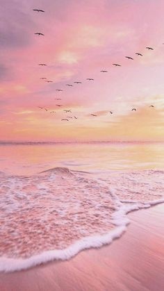 Strand Wallpaper, Ocean Wallpaper, Summer Wallpaper, Pink Wallpaper Iphone, Nature Wallpaper, Wallpaper Backgrounds, Galaxy Wallpaper, Wallpaper Coc, Landscape Wallpaper
