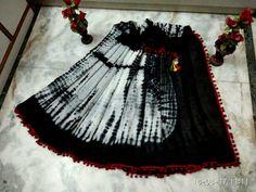 New pom pom lace saree mul cotton fabrice woth blouse piece
