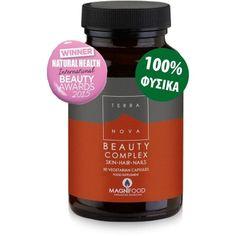Ιδανική και απόλυτα φυσική λύση για την ενίσχυση της ομορφιάς εκ των έσω  Καινοτόμος και διαφοροποιημένη σύνθεση με μεγάλο εύρος συστατικών, η οποία προάγει την καλή υγεία του δέρματος, των μαλλιών και των νυχιών. Περιέχει βιταμίνες, μ... Natural Health, Hair And Nails, Beauty