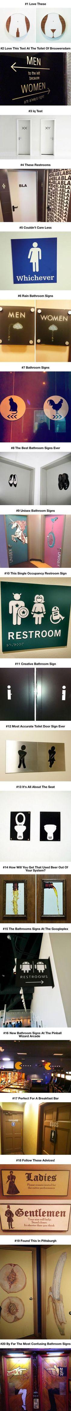 Most Creative Bathroom Signs