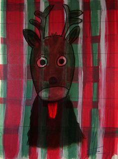 'Christmas, The little cute Reindeer - Das kleine süße Rentier' von Marion Waschk bei artflakes.com als Poster oder Kunstdruck $16.63