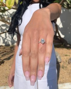 Elegant Engagement Rings, Engagement Ring Styles, Halo Diamond Engagement Ring, Engagement Ring Settings, Halo Collection, Cushion Halo, Halo Setting, Gia Certified Diamonds, French