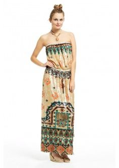 Kamisa Sequin Embroidered Maxi Dress