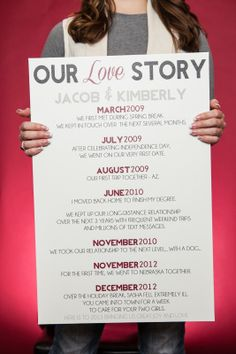 Love Story Canvas by Knot Forgotten - Would be a great wedding gift!