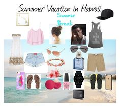 """""""Summer Break line"""" by skylinn-grace ❤ liked on Polyvore featuring MANGO, Hollister Co., Oakley, Forever 21, Billabong, Havaianas, Nixon, Eos, Calvin Klein and MikeyLins by Petal Lane"""