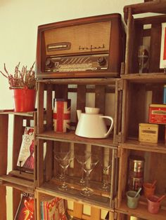 #DIY crates cupboard - gretasdrawer.com #interiors