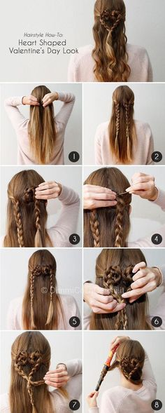 30 Gorgeous Braided Hairstyles for Long Hair - Flechtfrisuren Valentine's Day Hairstyles, Cute Hairstyles For Kids, Little Girl Hairstyles, Pretty Hairstyles, Braided Hairstyles, Romantic Hairstyles, Fashion Hairstyles, Hairdos, Updos