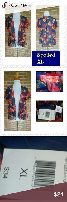 Gorgeous Vibrant Floral Jacket/Top by Spoiled! BN Brand new with tags by Spoiled in XL! See pics for details and material info Spoiled  Tops