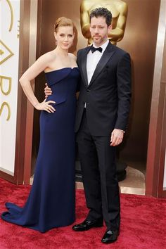 Amy Adams and Darren Le Gallo attend the Oscars held at Hollywood & Highland Center in Hollywood, Calif., on March 2, 2014.  #AcademyAwards