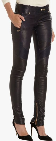 Curating Fashion & Style: Street fashion | Edgy black leather pants