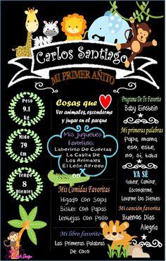 Jungle Theme Birthday, Birthday Board, Safari Party, Safari Theme, Half Birthday Baby, Prince Party, Birthday Chalkboard, Holidays And Events, Kids And Parenting