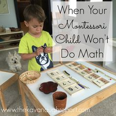 The Kavanaugh Report: When Your Montessori Child Won't Do Math