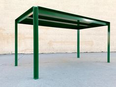 Tanker Inspired Steel Dining or Work Table Made to Order, Custom Colors For Sale at 1stDibs