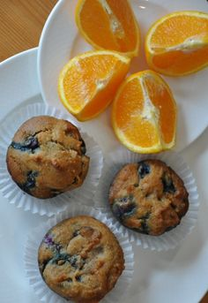 Orange Blueberry Paleo Muffins