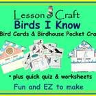 Birds! Birds! Birds! It's fun to learn about  birds!   Pages 5-8: Cut out 16 bird cards and learn facts about 16 common birds.  Pages 3-4: Color, c...